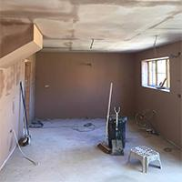 Plastered Living Room