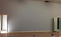 Gym Plaster Walls
