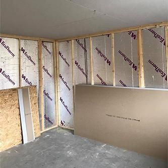 Partition Wall being built
