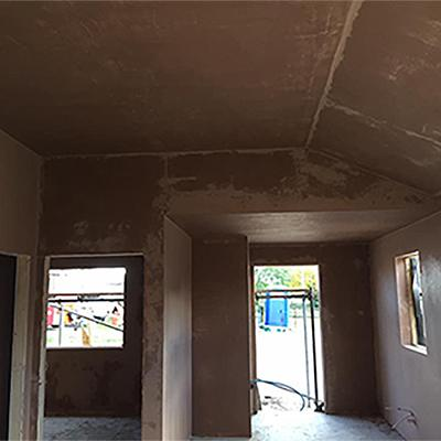 Plastered Room in progress