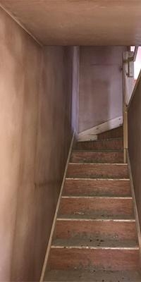 Plastered Set of stairs